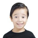 孩子纵向微笑 图库摄影