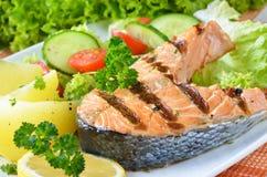 鲑鱼排 库存照片