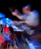 движение барабанщика нерезкости действия Стоковое Изображение