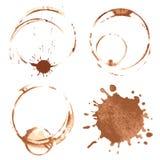 咖啡污点 库存图片