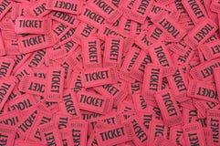 水平的堆红色票 免版税库存照片