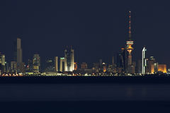 горизонт Кувейта города Стоковое фото RF