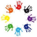 五颜六色的现有量墨水打印飞溅 库存照片