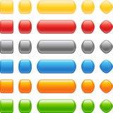 按钮彩色组样式 库存照片