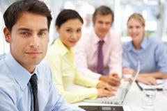 组商人在会议 免版税库存照片
