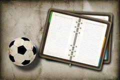 прикройте тетрадь футбола Стоковое Изображение RF