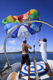 乘员组帆伞运动 免版税库存照片