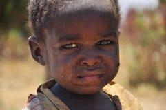 非洲惊人的美丽的男孩纵向 库存照片