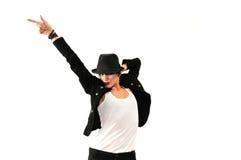 冷静舞蹈演员女性查出 免版税图库摄影