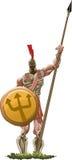古代希腊的重装备步兵 库存照片