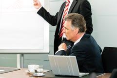 上司企业前面介绍 免版税库存照片