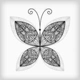 абстрактная бабочка детализированная высоки Стоковое Изображение RF
