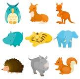 动物动画片图标动物园 库存照片