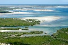 非洲海岸莫桑比克南部热带 免版税库存图片