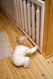 婴孩闭合的门 库存图片