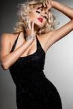 典雅的时髦的女人 库存图片