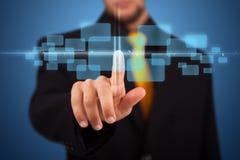 按钮高人现代按的技术类型 免版税库存照片