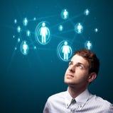 生意人图标现代按的社会类型 库存照片