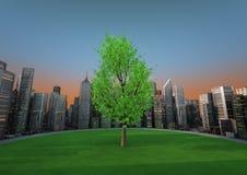 δέντρο πόλεων Στοκ εικόνα με δικαίωμα ελεύθερης χρήσης