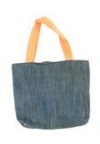查出的袋子蓝色织品 免版税库存图片