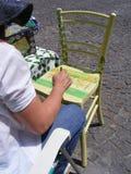 绘画妇女 免版税库存图片