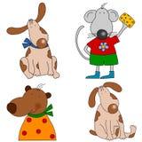установленные персонажи из мультфильма Стоковое Изображение RF