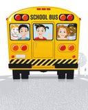 公车运送学校黄色 库存图片
