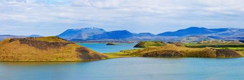 панорама горы озера Стоковое Фото