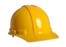 在白色的安全帽 免版税图库摄影