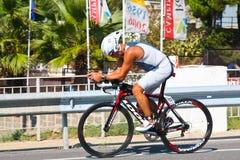 循环的运动员三项全能 免版税图库摄影