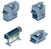 被设置的计算机硬件图标 免版税库存图片