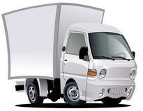 вектор фургона поставки шаржа груза Стоковые Фото