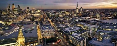 城市伦敦微明 免版税库存图片