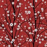 樱桃模式无缝的结构树 免版税库存照片
