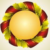 золотистый венок дуба Стоковое Изображение