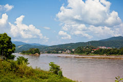 湄公河视图 图库摄影