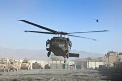 直升机登陆的军人我们 免版税库存照片