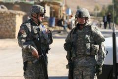 伊拉克战士我们 免版税图库摄影