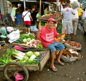 哥伦比亚市场玛尔塔・圣诞老人场面 库存图片