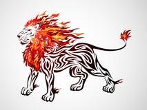部族火的狮子 免版税库存照片