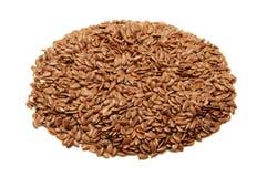 коричневые семена льна Стоковое Изображение