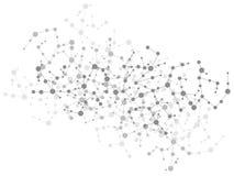 背景连接数分子 图库摄影