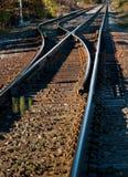 след переключателя железной дороги Стоковые Изображения
