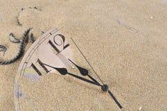 时钟沙子墙壁 图库摄影