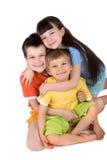 детеныши детей счастливые Стоковое Изображение