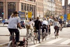 自行车城市 免版税图库摄影