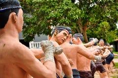 艺术拳击形象显示泰国 库存图片