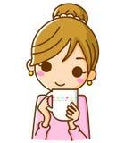 咖啡饮用的妇女 免版税库存图片