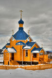ρωσικός ξύλινος εκκλησιών Στοκ Εικόνες