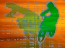 背景摩托车 图库摄影